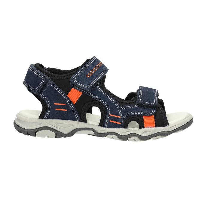 Detské sandále na suchý zips mini-b, modrá, 463-9602 - 15