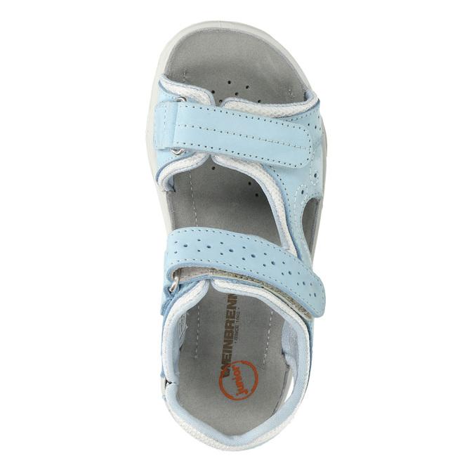 Kožené detské sandále weinbrenner-junior, modrá, 466-9607 - 19