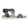 Kožené sandále na výraznej podrážke bata, modrá, 566-9606 - 15