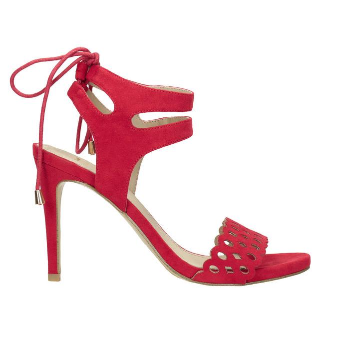 Červené sandále na ihličkovom podpätku bata, červená, 769-5603 - 15