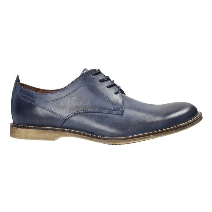Modré kožené poltopánky bata, modrá, 826-9601 - 15