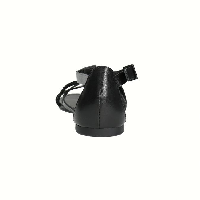Čierne dámske sandále vagabond, čierna, 564-6017 - 17