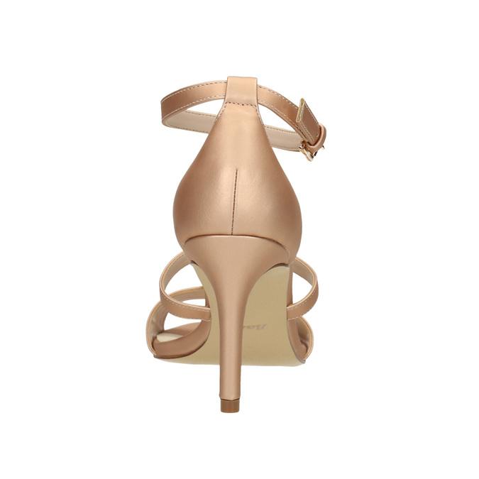 Dámske sandále na podpätku insolia, ružová, 761-5609 - 17