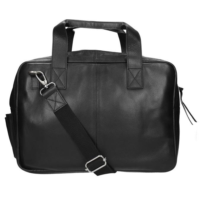 Čierna kožená taška bata, čierna, 964-6228 - 19