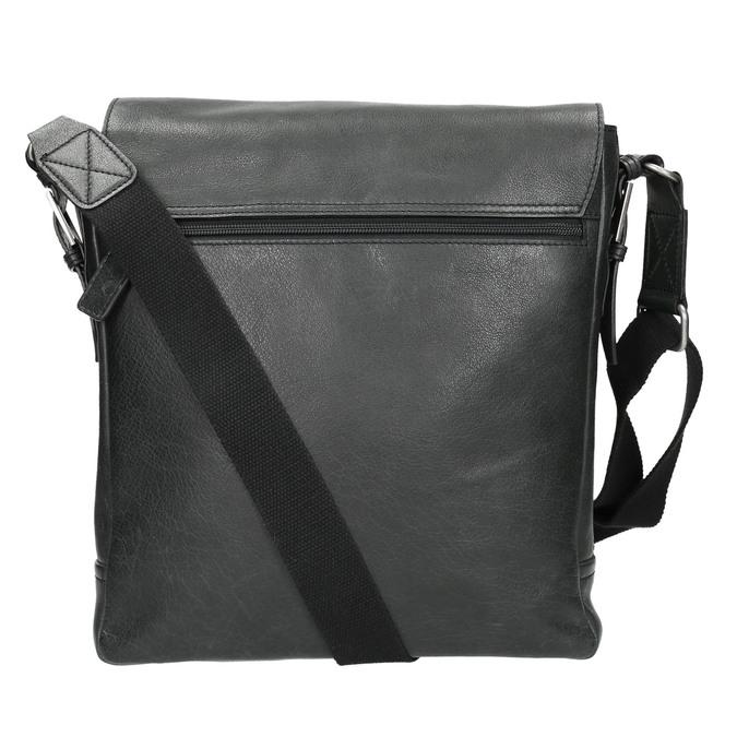 Unisex kožená Crossbody taška bata, čierna, 964-6222 - 19