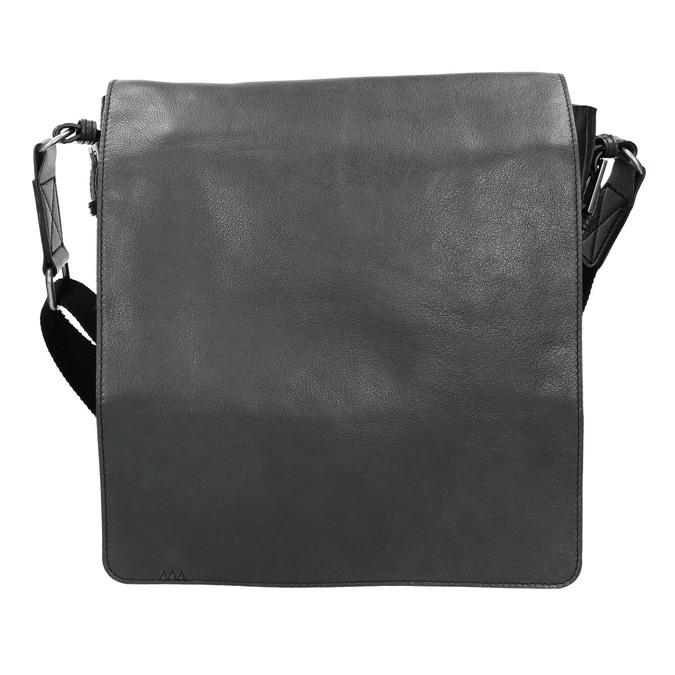 Unisex kožená Crossbody taška bata, čierna, 964-6222 - 26
