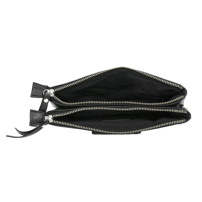 Kožená listová kabelka s dvomi vreckami bata, čierna, 964-6226 - 15