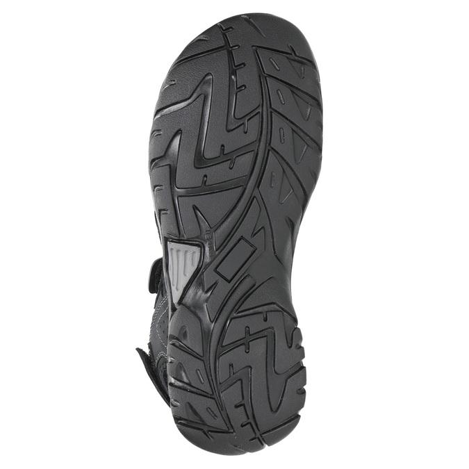 Kožené pánske sandále weinbrenner, čierna, 866-6630 - 26