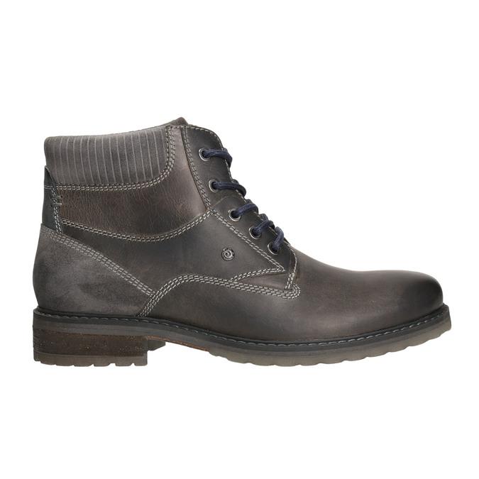 Kožená obuv k členkom bata, šedá, 894-2643 - 15