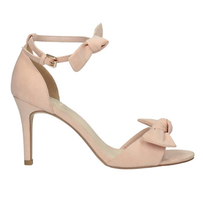 Dámske sandále s mašľou insolia, ružová, 769-5614 - 15