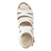 Sandále na platforme bata, biela, 759-1603 - 19