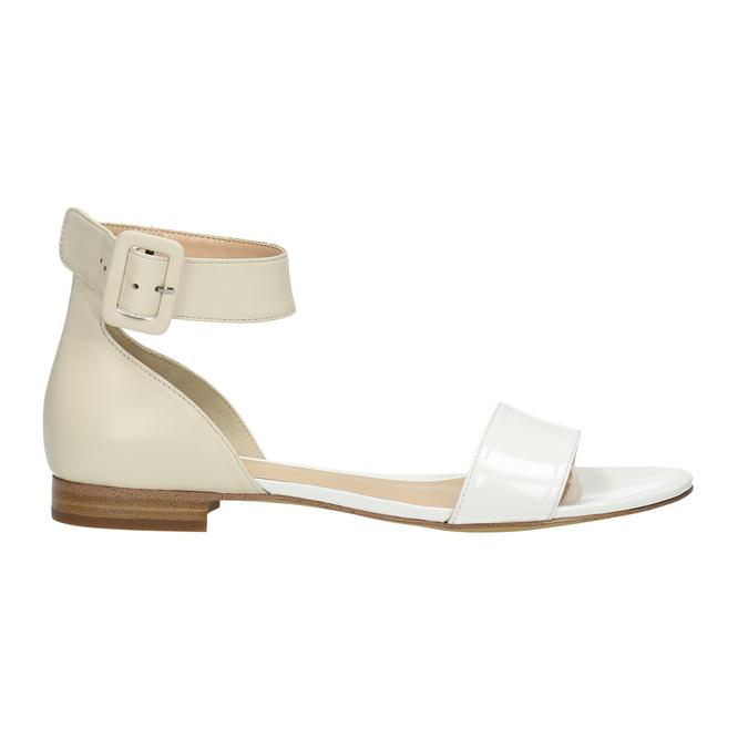 Kožené dámske sandále bata, biela, 568-1606 - 15