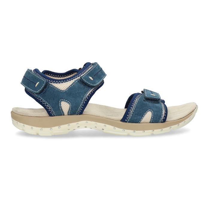 Kožené sandále v Outdoor štýle weinbrenner, modrá, 566-9608 - 19