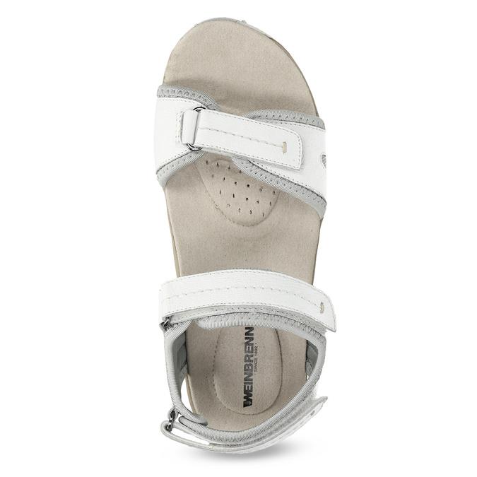 Kožené dámske sandále v Outdoor štýle weinbrenner, biela, 566-1608 - 17
