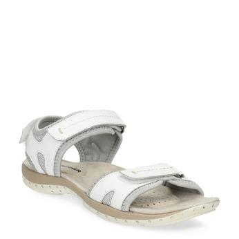 Kožené dámske sandále v Outdoor štýle weinbrenner, biela, 566-1608 - 13