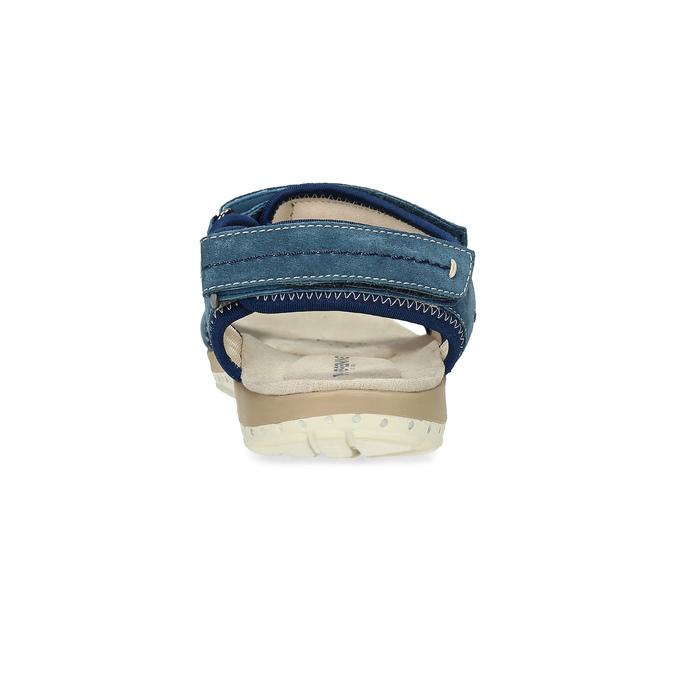 Kožené sandále v Outdoor štýle weinbrenner, modrá, 566-9608 - 15