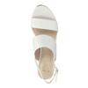 Dámske sandále na korkovej platforme insolia, biela, 761-1611 - 19