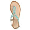 Kožené modré sandále s prepletením bata, modrá, 566-9621 - 19