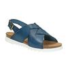 Dámske kožené sandále weinbrenner, modrá, 566-9628 - 13