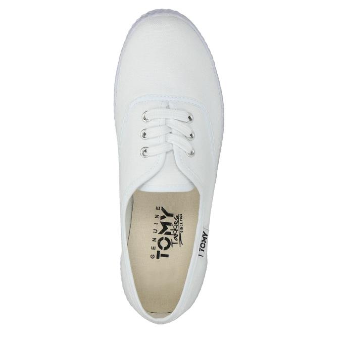 Dámske biele tenisky tomy-takkies, biela, 589-1180 - 19