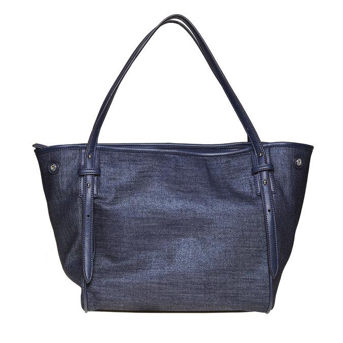 Dámska kabelka s cvočkami bata, modrá, 969-9264 - 26