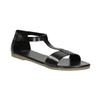 Čierne kožené sandále bata, čierna, 564-6600 - 13