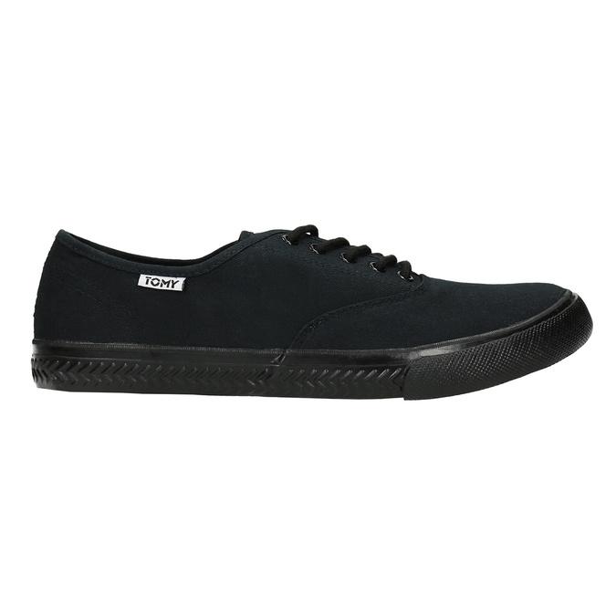 Čierne pánske tenisky tomy-takkies, čierna, 889-6227 - 15