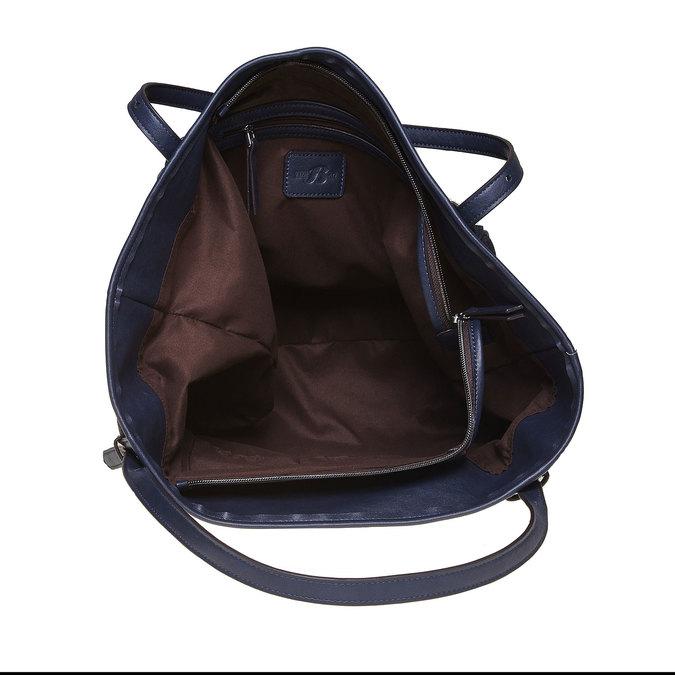 Dámska kabelka s cvočkami bata, modrá, 969-9264 - 15