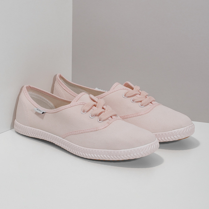 Ružové dámske tenisky tomy-takkies, ružová, 589-5180 - 26