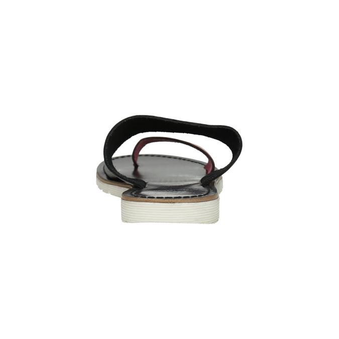 Dámske kožené nazuváky bata, čierna, 566-5614 - 17