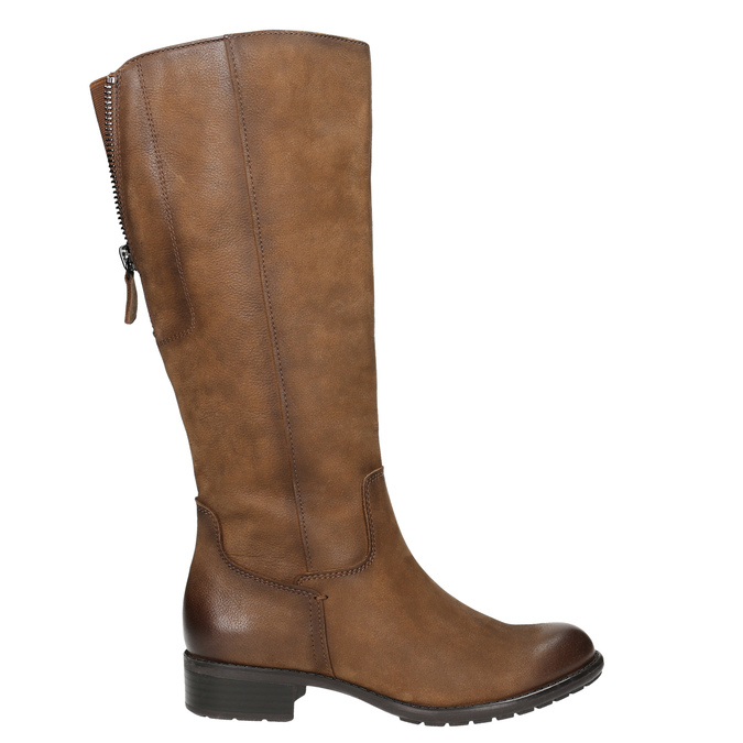 Hnedé kožené čižmy bata, hnedá, 596-4604 - 15