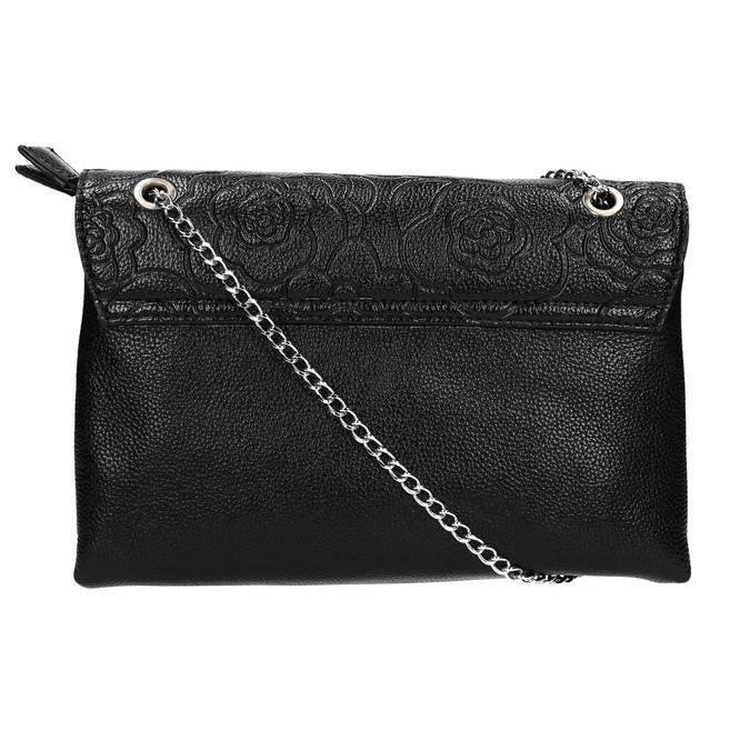 Menšia čierna kabelka s klopou bata, čierna, 961-6731 - 19