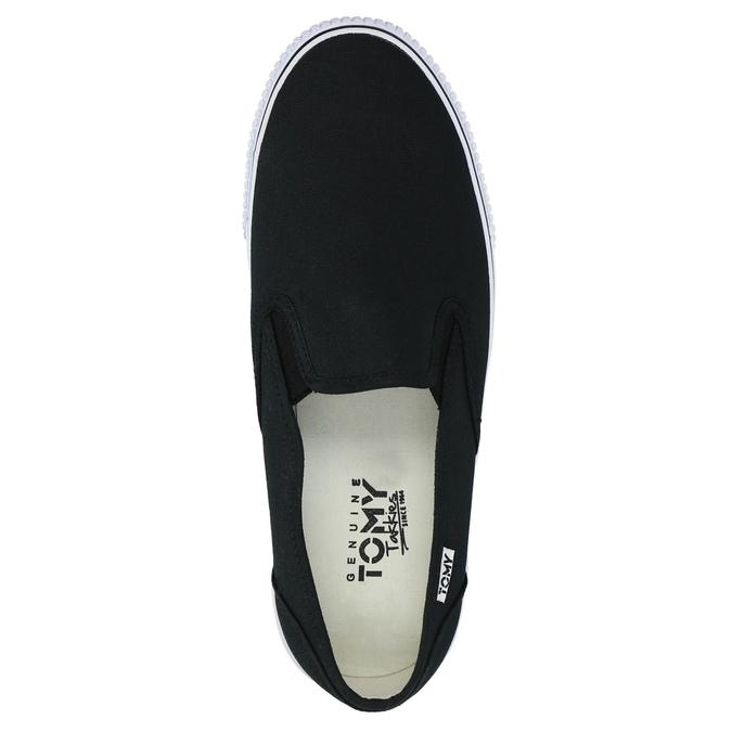 Čierne pánske Slip-on tomy-takkies, čierna, 889-6229 - 19