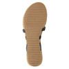 Korkové sandále s hadím vzorom bata, čierna, 561-6606 - 26