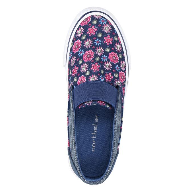 Dievčenská obuv v štýle Slip-on mini-b, modrá, 329-9611 - 19