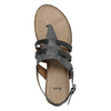 Korkové sandále s hadím vzorom bata, čierna, 561-6606 - 19