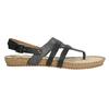 Korkové sandále s hadím vzorom bata, čierna, 561-6606 - 15