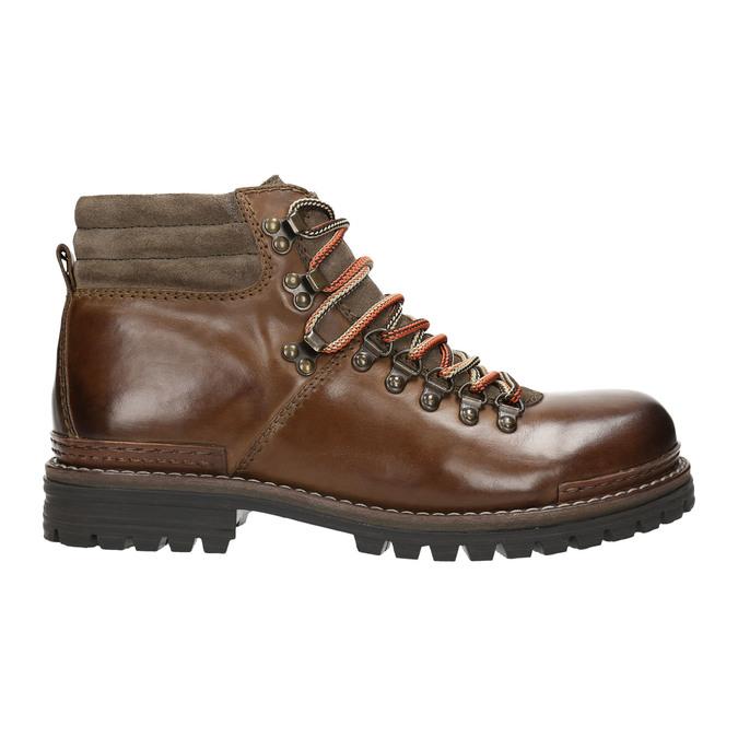 Kožená obuv s originálnym šnurovaním bata, hnedá, 894-4180 - 15