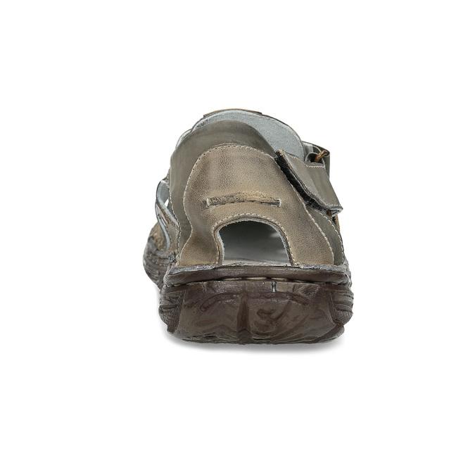 Pánske hnedé kožené sandále bata, hnedá, 866-2622 - 15