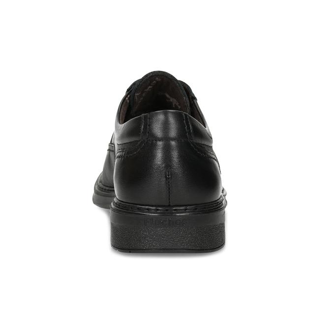 Pánske kožené poltopánky fluchos, čierna, 824-6448 - 15
