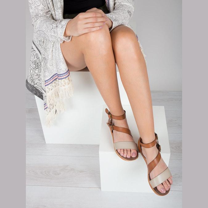 Kožené sandále na výraznej podrážke weinbrenner, hnedá, 566-4627 - 14
