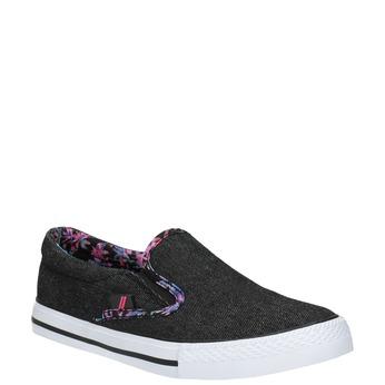 Dámska Slip-on obuv s farebným lemom north-star, čierna, 589-6440 - 13