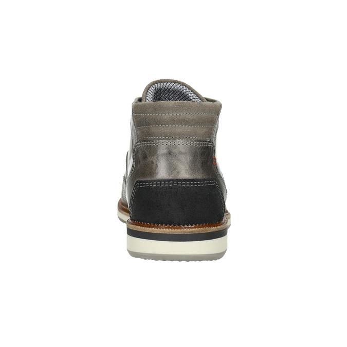 Kožená členková obuv šedá bata, šedá, 826-2912 - 17