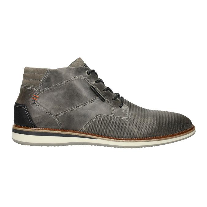 Kožená členková obuv šedá bata, šedá, 826-2912 - 15