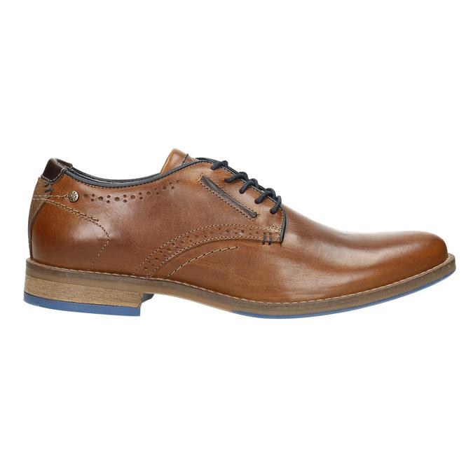 Ležérne kožené poltopánky bata, hnedá, 826-3910 - 15