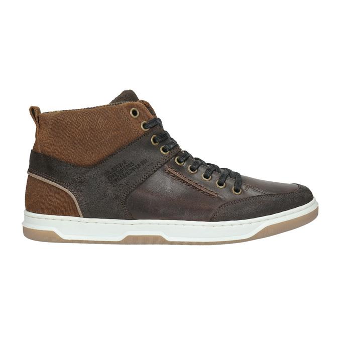 Kožené členkové tenisky bata, hnedá, 846-4640 - 15
