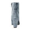 Dámske zamatové čižmy bata, šedá, 799-2616 - 17