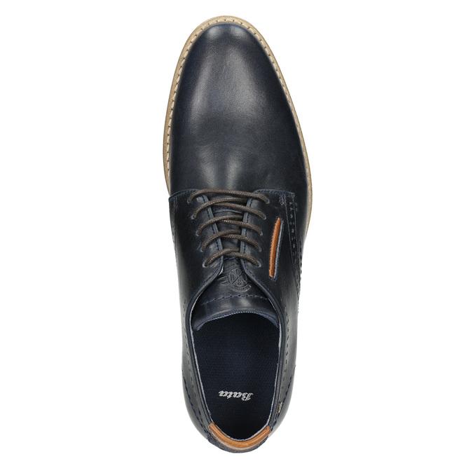 Neformálne kožené poltopánky bata, modrá, 826-9910 - 26