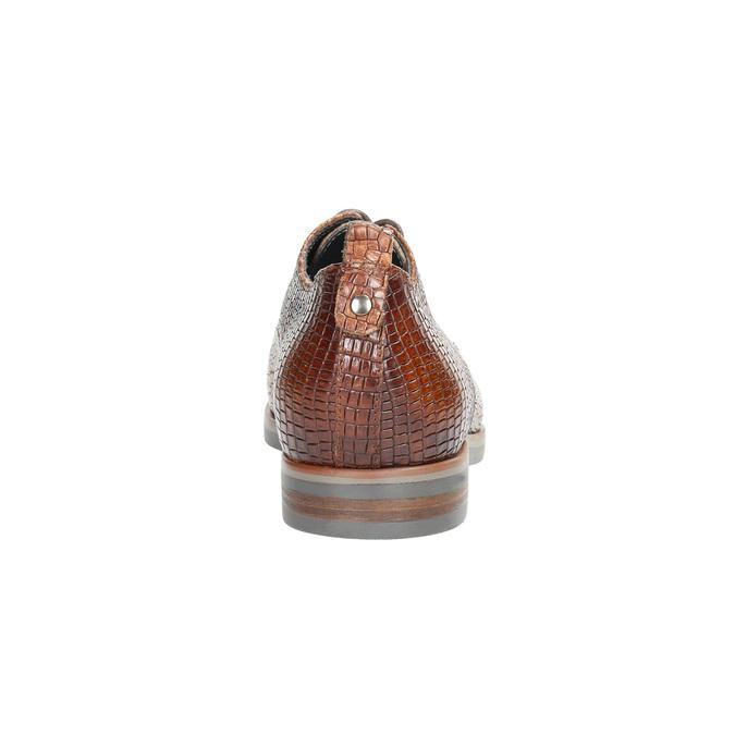 Kožené poltopánky so štruktúrou bata, hnedá, 526-4637 - 17