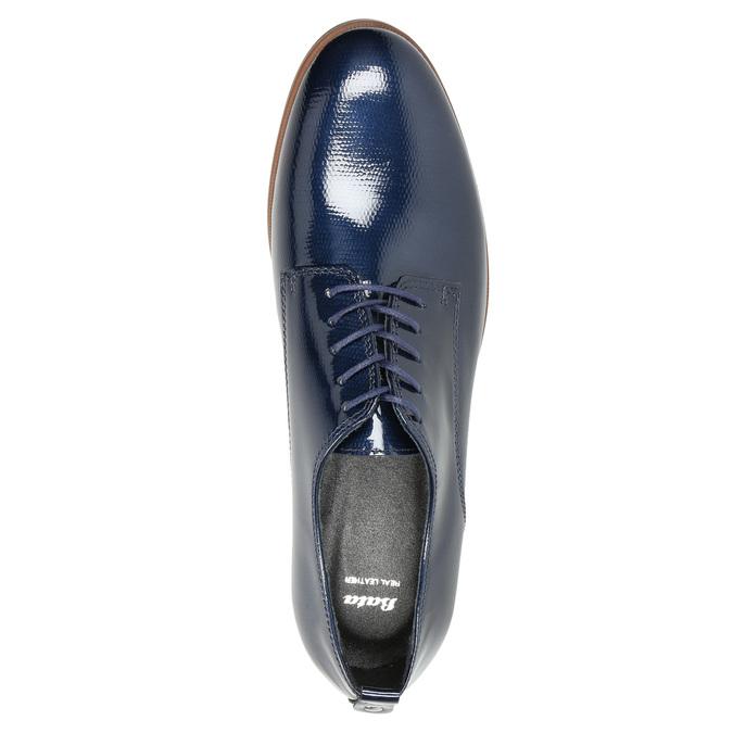 Kožené dámske poltopánky bata, modrá, 528-9600 - 19